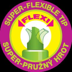 zvýrazňovač 8542 flexi  žlutý(8595013635834)