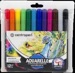 popisovač 8683/12 Aquarelle-souprava akvarelových značkovačů se štětcovými hroty
