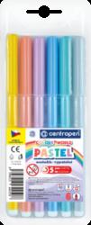 popisovač 7550/ 6 trojhranný pastel-popisovače Centropen