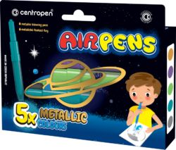 speciál Centropen 1590/5 AIR pen metallic-foukací fixy na bílý i tmavý papír