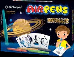 speciál Centropen 1590/8 AIR pen metallic-foukací fixy na bílý i tmavý papír