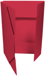 odkládací mapa 253 s gumou prešpán červená-PRODEJ POUZE PO BALENÍ