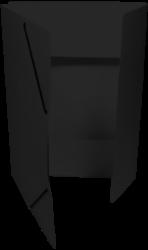 odkládací mapa 253 s gumou prešpán černá-PRODEJ POUZE PO BALENÍ