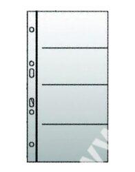 prospektový obal na vizitky - 4 kapsy 10ks-rozměr: 111 x 294 x 0,3 mm