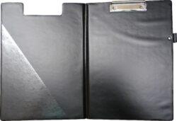 podložka A4 dvojdeska plastik černá s držáčkem na propisku-rozměr: 232 x 323 x 6 mm