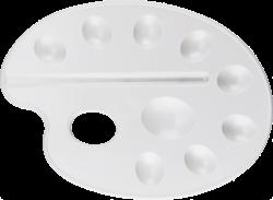 paleta výtvarná L bílá BR-215