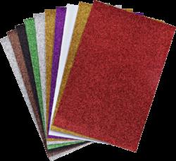 papír A4 glitrový NC-275 10barev mix-rozměr cca 20 x 30 cm