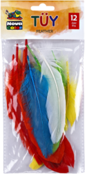 peří mix barev 12ks NC-750