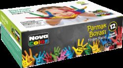barvy prstové NC-460 12ks 25ml-na vodní bázi