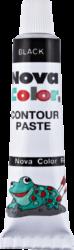 konturovací pasta tuba černá NC-184-na sklo, dřevo, plasty, papír