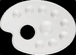 paleta výtvarná M bílá BR-217