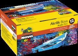 barvy akrylové NC-179 sada 12x30ml-akrylové barvy na vodní bázi