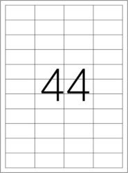 etikety A4  48,5 x 25,4   44ks(8698806200315)