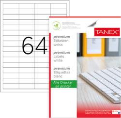 etikety A4  48,5 x 16,9   64ks-100 listů