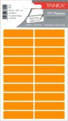etikety v sáčku neon 13 x 50 oranžové 100ks OFC-109-aršíky A6