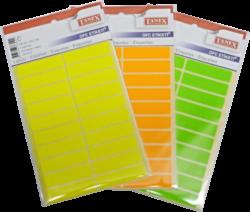 etikety v sáčku neon 13 x 50 oranžové 100ks OFC-109(8698806381090)