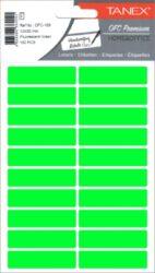 etikety v sáčku neon 13 x 50 zelené 100ks OFC-109-aršíky A6