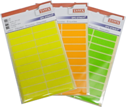 etikety v sáčku neon 13 x 50 zelené 100ks OFC-109(8698806384091)