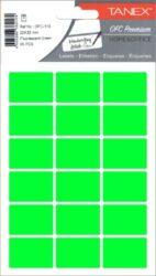 etikety v sáčku neon 22 x 32 zelené 90ks OCF-116-aršíky A6