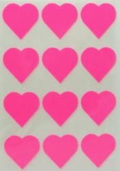 a samol.STC-302 srdce fluo růžové 31 x 31 60ks-5 aršíků