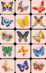 a samol.STC-103 motýli mix 30 x 28 45ks-3 aršíky