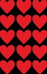 a samol.STC-120 srdce červené 27 x 29 45ks-3 aršíky