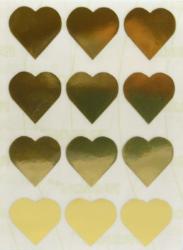 a samol.STC-303 srdce zlaté 31 x 31 60ks-5 aršíků