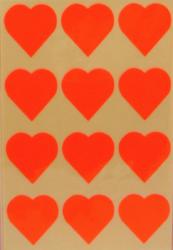 a samol.STC-301 srdce fluo oranžové 31 x 31 60ks-5 aršíků