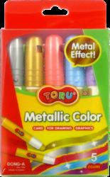 barvy tuhé TORU Metallic  5ks-Tuhé metalické temperové barvy TORU