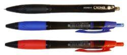 kuličkové pero Cronix 0,7mm černé-plastové tělo, hrot 0,7 mm
