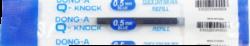 náplň Q - knock 0,5 modrá - Quick Dry Ink-PRODEJ POUZE PO BALENÍ!