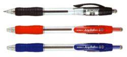kuličkové pero Any ball 0,5 mm modré-plastové tělo, hrot 0,5 mm