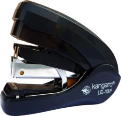sešívačka K LE -10F ploché šití - černá 20l/No.10-kovová sešívačka s plastovými doplňky - PLOCHÉ ŠITÍ