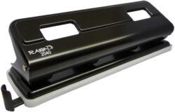 děrovačka Raion 2040 - čtyři díry černá 16l-pro formát A4 celokovová konstrukce 5 let záruka