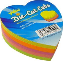 notes   Y neon srdce mix barev 250l-250 listů ve tvaru srdce
