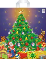 taška  vánoční PE 45 x 50 stromeček-PRODEJ POUZE PO BALENÍ