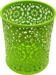 stojánek drátěný na tužky kulatý Europen zelený-rozměr: 8,4 x 10 cm