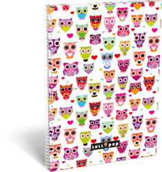 blok A4 70l linka spirála bok Lollipop White Owl 15304102